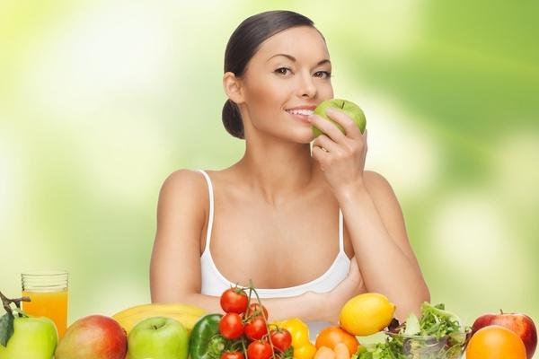 в рационе должны присутствовать овощи и фрукты